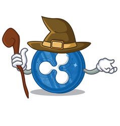 Witch ripple coin character cartoon vector