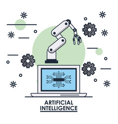 artificial intelligence technology vector image vector image