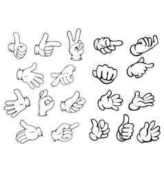 Cartoon hand gestures and pointers vector image