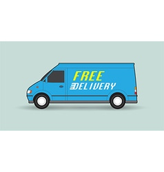 Free delivery car vector image