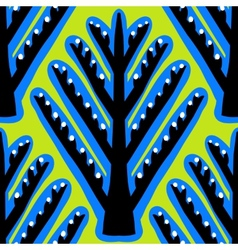 Ikat ethnic pattern with Kazakh motifs vector image