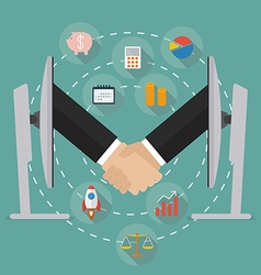 Internet business ecommerce concept vector