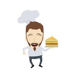 master chef cartoon vector image vector image