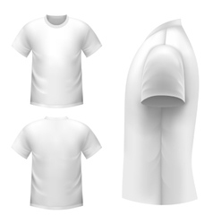 Realistic white t-shirt vector image