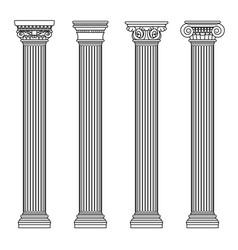 Greek and roman architecture classic stone colomns vector