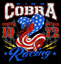King cobra motor racing graphic vector image vector image
