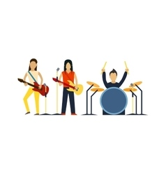 Music band with instruments vector image