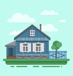 old russian country house vector image