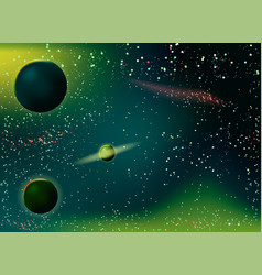 stardust and bright shining stars in space vector image vector image