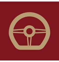 The steering wheel icon auto symbol flat vector