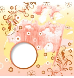 watercolor modern background with frame vector image