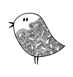 Zentangle stylized bird in for coloring vector image vector image