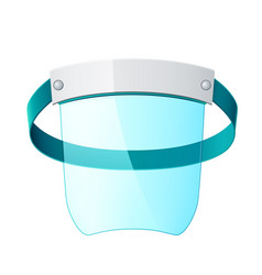 3d face screen plastic protective mask vector image