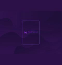 Abstract fluid shape pattern violet design vector