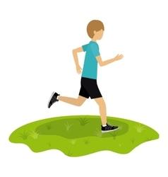 athlete avatar design vector image