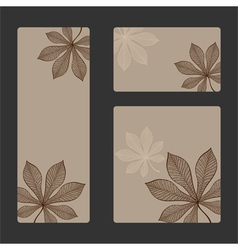 autumn sticker set vector image