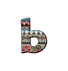 B letter small vector