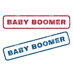 Baby boomer rubber stamps vector