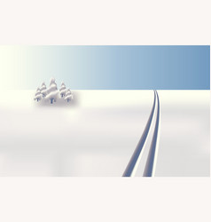 background landscape skiing in snow vector image