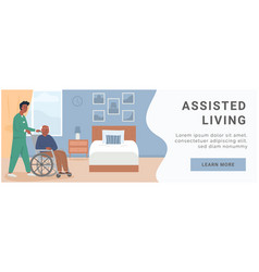 banner for retirement home assisted living vector image