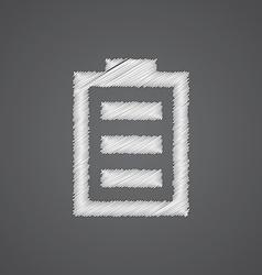 Battery sketch logo doodle icon vector