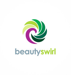Beauty colored swirl logo vector