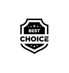 Best choice black icon shield vector