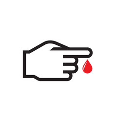 blood test - icon on white background vector image