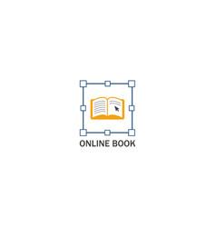 book online logo vector image