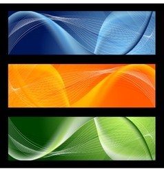 Bright abstract wavy banners vector