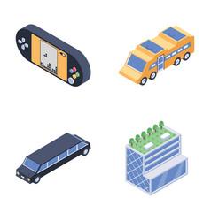 Bundle of smart city icons vector