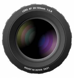 Camera lenses vector