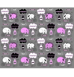 Cats on a gray background vector image
