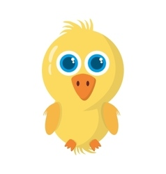 Chicken little animal farm isolated icon vector