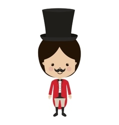 Circus ceremony master with hat vector