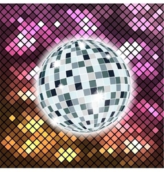 Colorful background with disco ball vector