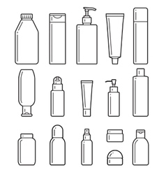 Cosmetic bottles Flat icons vector