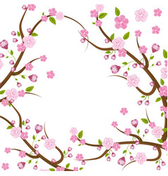 cute flowers branches decoration vector image