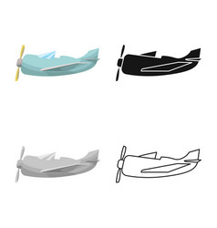Design airplane and air icon collection vector