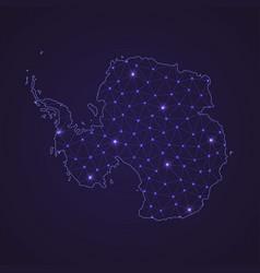 Digital network map of antarctica abstract vector