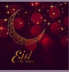 Eid al adha festival sparkling background vector