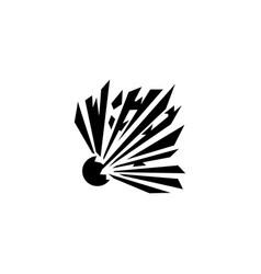 explosion blast flat icon vector image