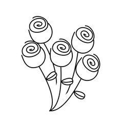 Figure round roses icon vector