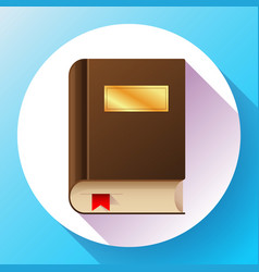 flat book icon flat book icon vector image