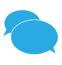 Flat icon of a communication chat icon on white vector