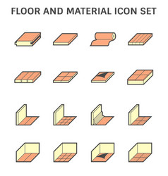 floor and material for interior decoration icon vector image