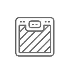 floor scales line icon vector image
