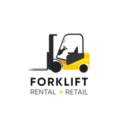 Forklift logo for retail shop rental and repair vector