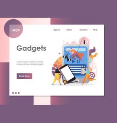 gadgets website landing page design vector image