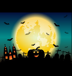 Halloween night concept banner background vector